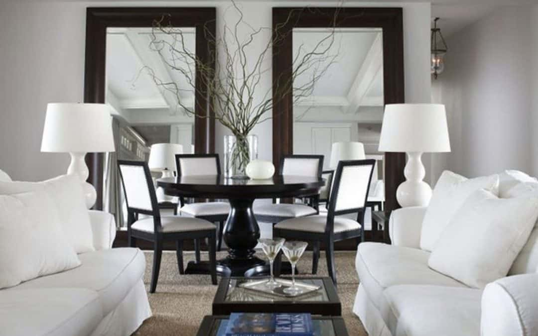 Decorative mirrors add instant light